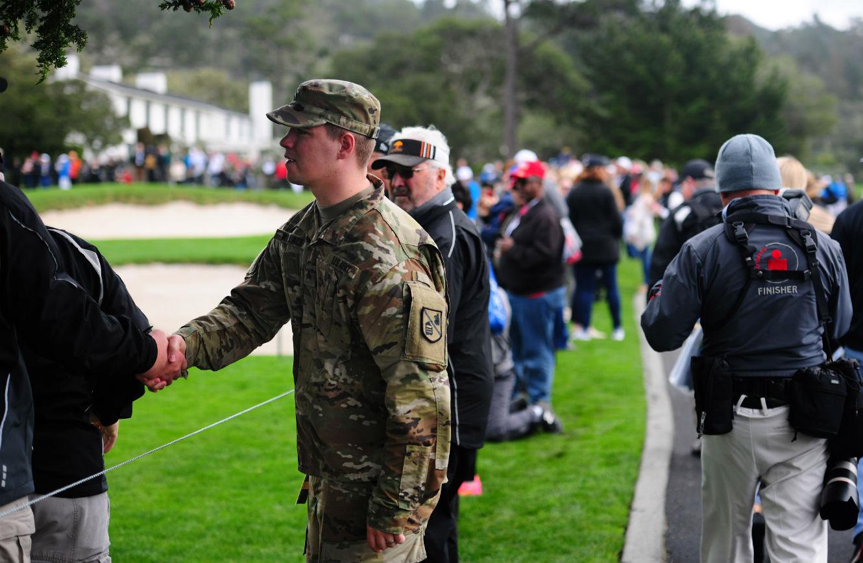 soldier handshake