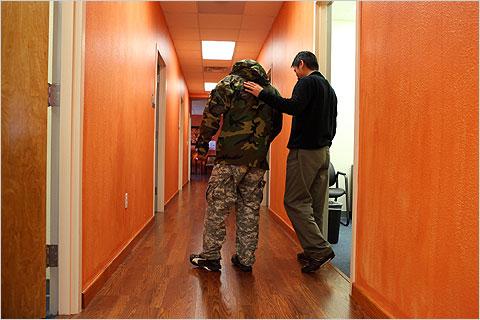 soldier combat stress