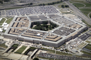 An aerial view of the Pentagon building in Washington, June 15, 2005. U.S. Defense Secretary Donald Rumsfeld defended the Guantanamo prison against critics who want it closed by saying U.S. taxpayers have a big financial stake in it and no other facility could replace it at a Pentagon briefing on Tuesday. REUTERS/Jason Reed JIR/CN - RTREIPO