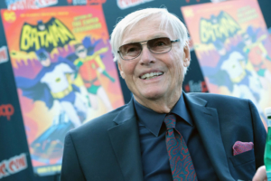 NEW YORK, NY - OCTOBER 06:  Actor Adam West attends the Batman: Return of the Caped Crusaders Press Room at New York Comic-Con - Day 1 at Jacob Javits Center on October 6, 2016 in New York City.  (Photo by Mike Coppola/Getty Images)