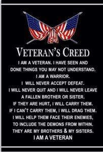 "Veterans Groups Adopt New ""Veteran's Creed"""