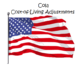 cost of living adjustments flag