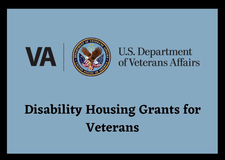 housing grants for disabled veterans