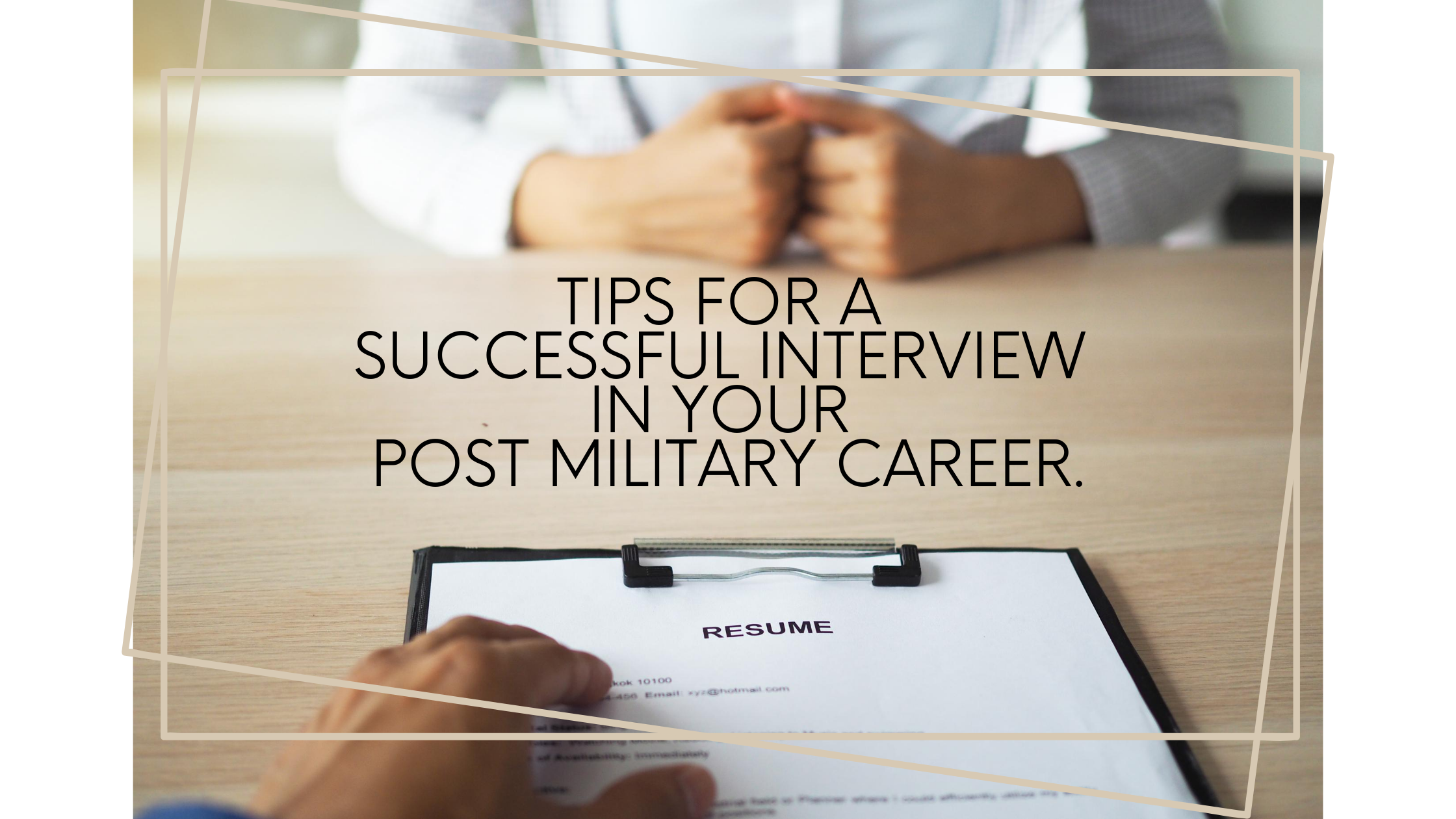 Post Military Job Interview
