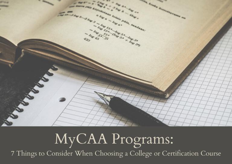 MyCAA Programs