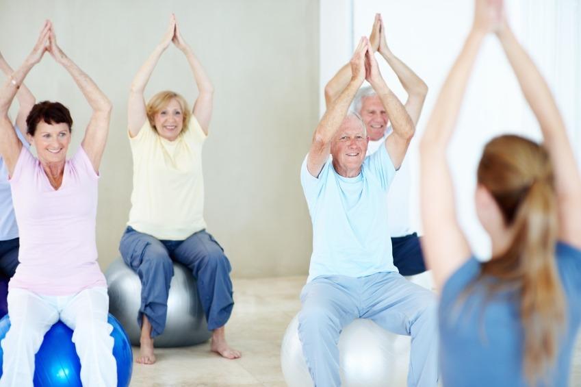 balance ball exercise senior citizens