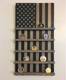 American Flay Coin Holder