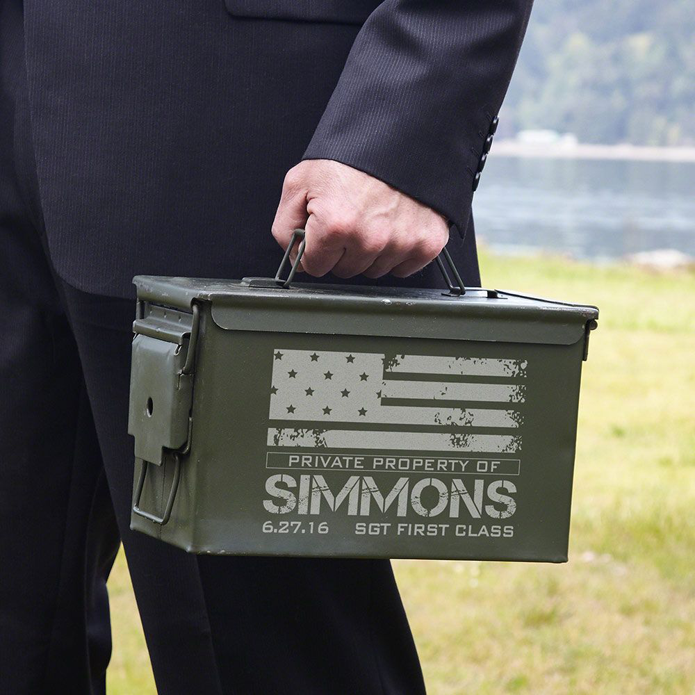 Engraved ammo can