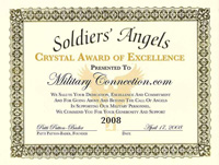Soldiers' Angels Crystal Award of Excellence