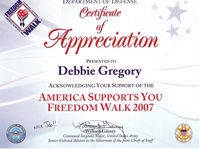 2007 Certificate of Appreciation