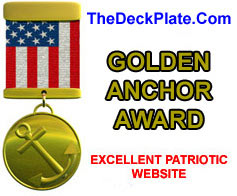 Golden Anchor Website Award for Patriotic Excellence from Jeff Edwards http://www.thedeckplate.com