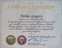 Congressional Recognition Award for Military Connection