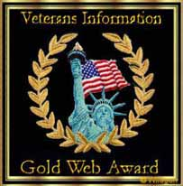 Gold Web Award - Presented to MilitaryConnection.com on May 22, 2008 by VeteransInfo.org
