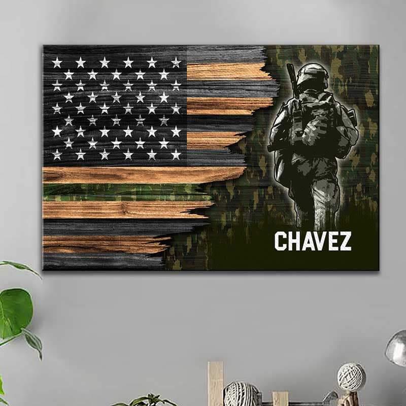 Customized Military Canvas Print