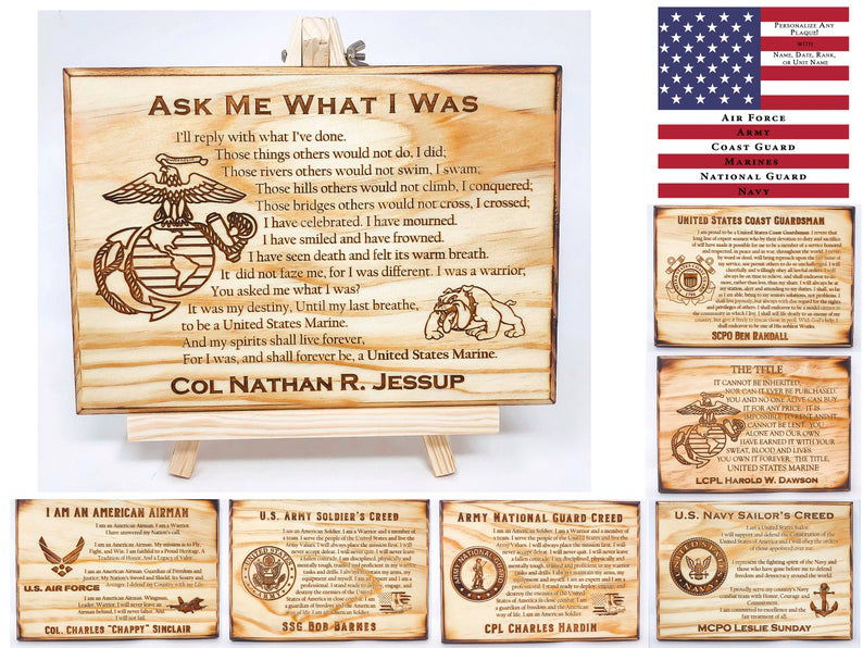 Wooden Military Plaque